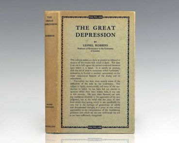mac the-great-depression-lionel-robbins-first-edition-rare